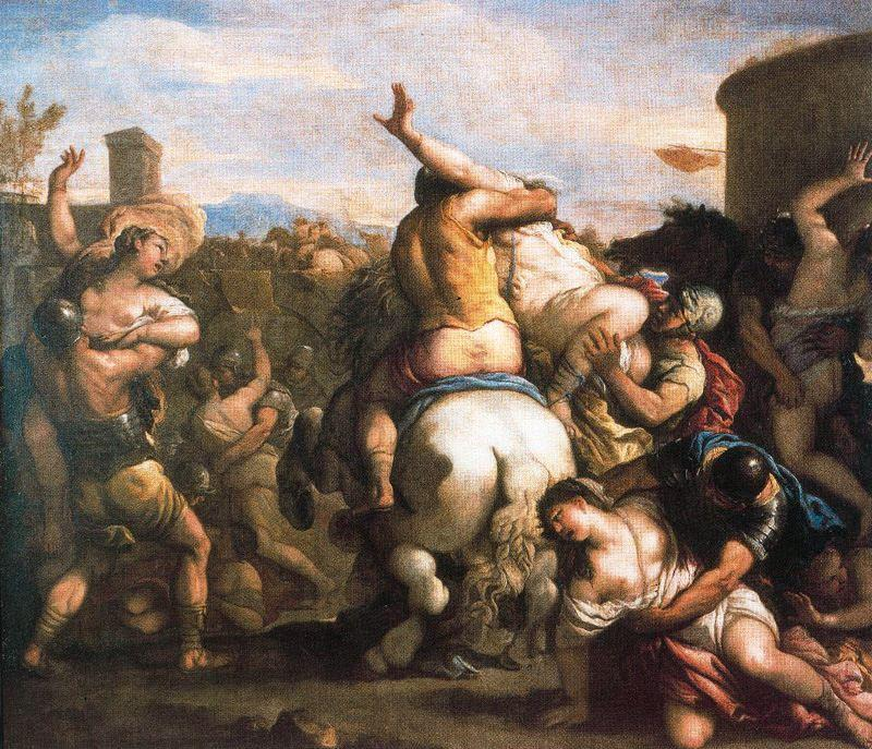 Rape of the sabine woman 2 by Luca Giordano (1634-1705, Italy)