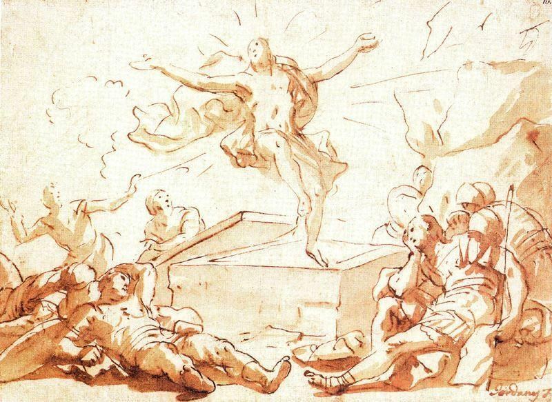 Resurrection of Christ by Luca Giordano (1634-1705, Italy)