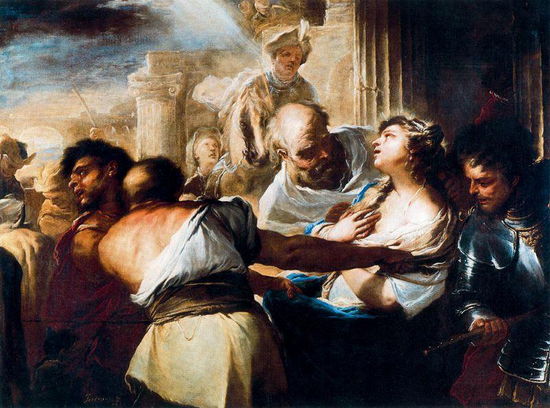 Saint Lucia led to the martyrdom by Luca Giordano (1634-1705, Italy)
