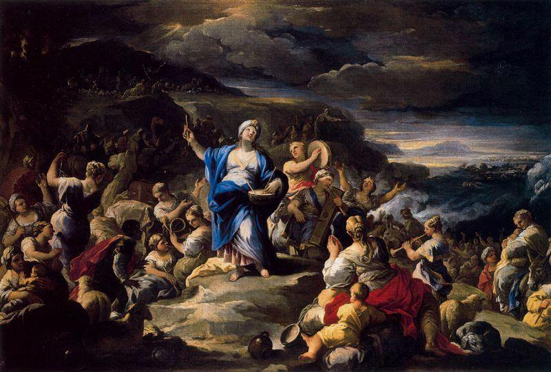 Song of Miriam by Luca Giordano (1634-1705, Italy)