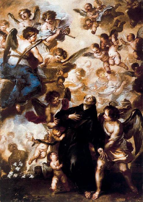 Stasis of St. Nicholas of Tolentino by Luca Giordano (1634-1705, Italy)