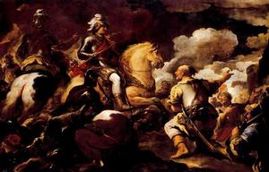 Luca Giordano - Taking a stronghold