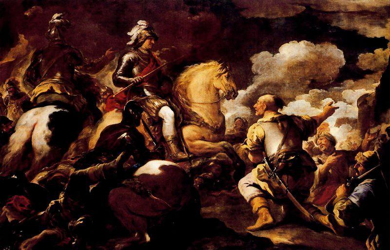 Taking a stronghold by Luca Giordano (1634-1705, Italy)