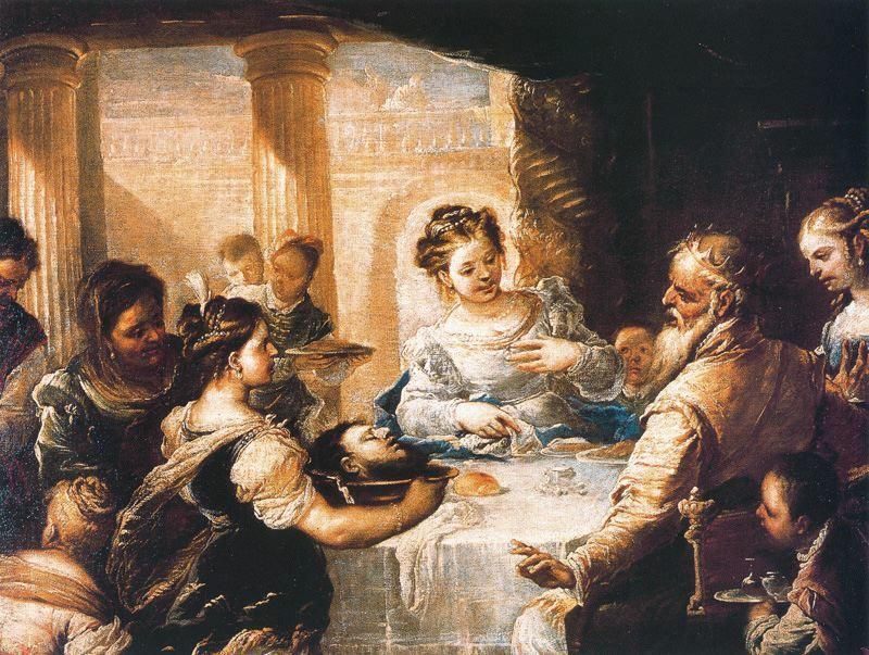 The feast of Herod by Luca Giordano (1634-1705, Italy)