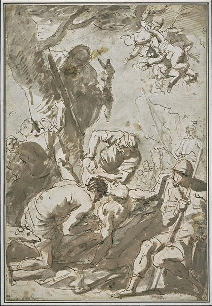 The Martyrdom of Saint Bartholomew by Luca Giordano (1634-1705, Italy)