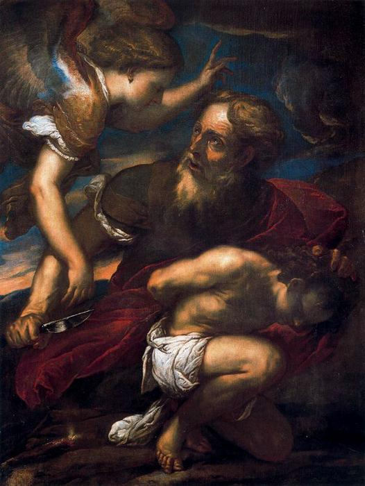 The Sacrifice of Isaac by Luca Giordano (1634-1705, Italy)