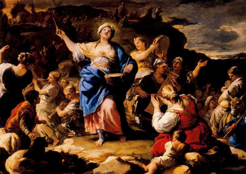 The song of Mary the Prophetess by Luca Giordano (1634-1705, Italy)