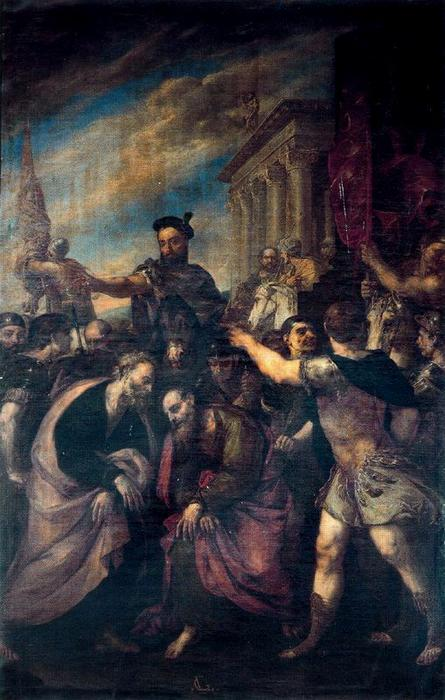 Traditio Clavium by Luca Giordano (1634-1705, Italy)