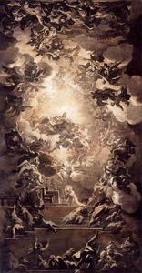Luca Giordano - Vision of St Ildefonso of Toledo