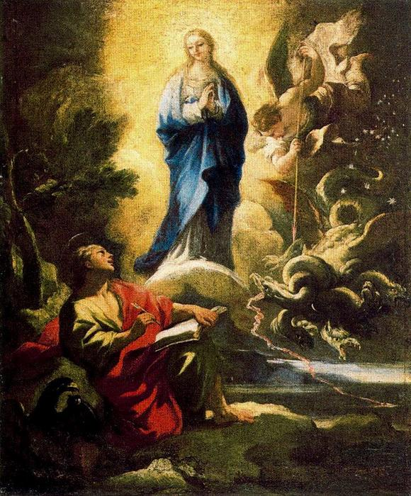 Vision of St. John the Evangelist on Patmos 2 by Luca Giordano (1634-1705, Italy)