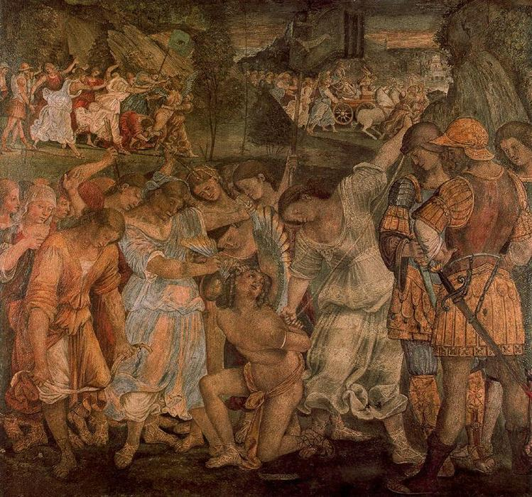 The Triumph of Chastity. Love Disarmed and Bound by Luca Signorelli (1445-1523, Italy)