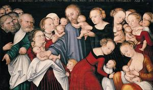 Lucas Cranach The Younger - Christ Blessing the Child..