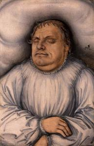 Lucas Cranach The Younger - Portrait of Martin Luther..
