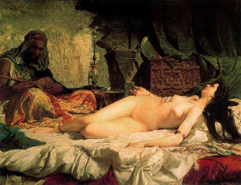 Odalisque by Mariano Fortuny (1871-1949, Spain)