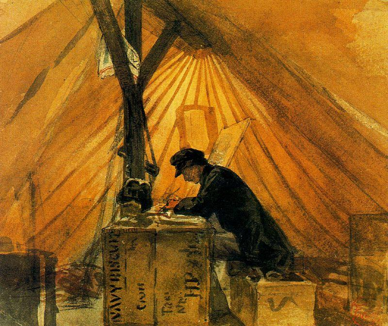 Our tent by Mariano Fortuny (1871-1949, Spain)