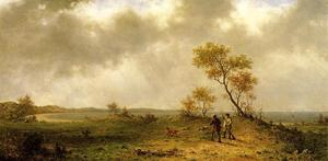 Martin Johnson Heade - Two Hunters in a Landscap..