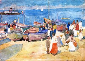 Maurice Brazil Prendergas.. - At the Shore (Capri)