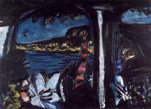 Max Beckmann - Monte Carlo by Night Seen from a Touring Car