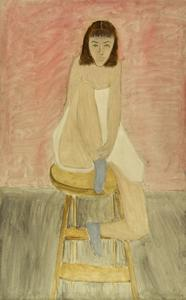 Milton Avery - Girl Seated on a Stool