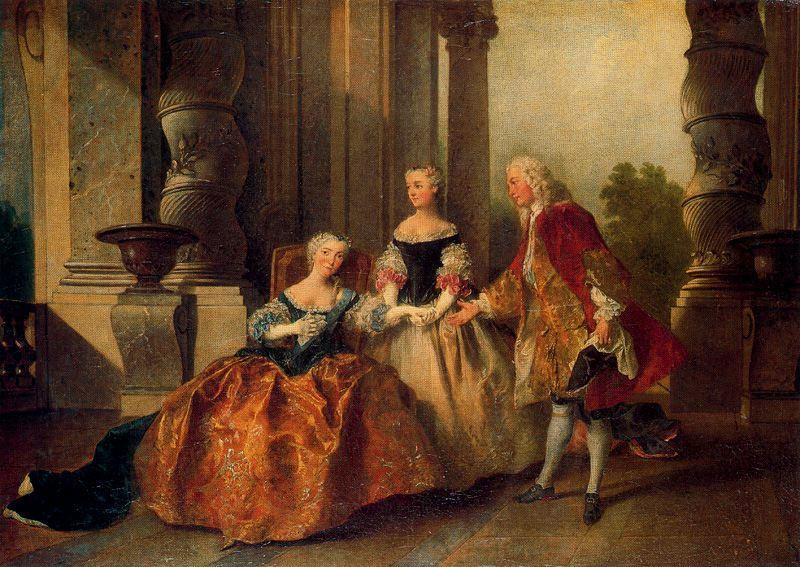 A scene of a tragedy of Cornelius''The Countess of Essex '' by Nicolas Lancret (1690-1743, France)
