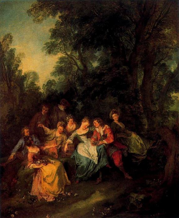 Spring by Nicolas Lancret (1690-1743, France)