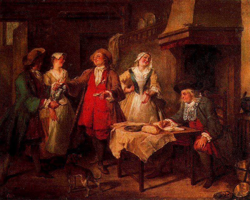 The marriage contract by Nicolas Lancret (1690-1743, France)