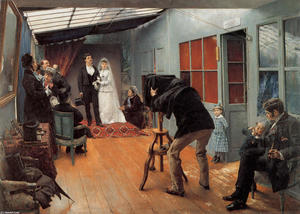 Pascal-Adolphe-Jean Dagnan-Bouveret - A Wedding in the photohraphe