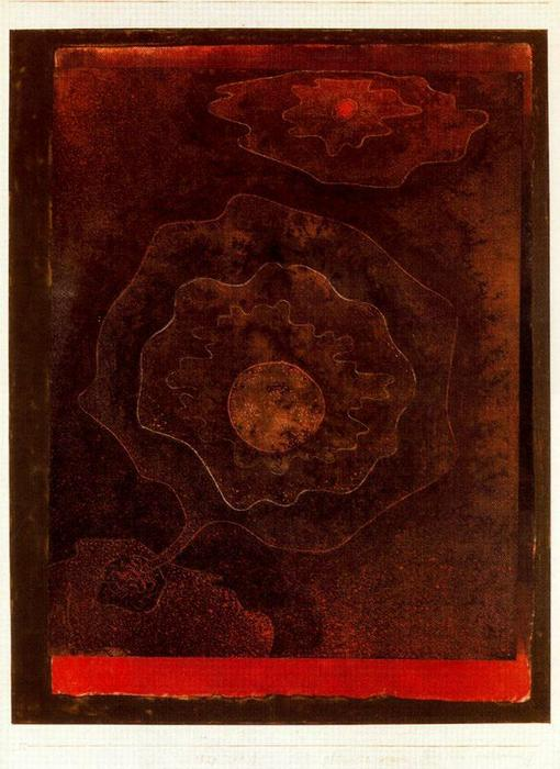 Curious to how plant by Paul Klee (1879-1940, Switzerland) | Museum Art Reproductions | ArtsDot.com