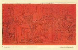 Paul Klee - Rock-Cut Temple with Fir Trees