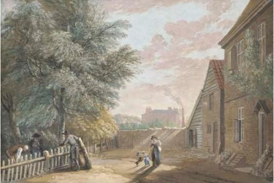 Back of the Public House near Bayswater by Paul Sandby (1798-1863, United Kingdom) | ArtsDot.com