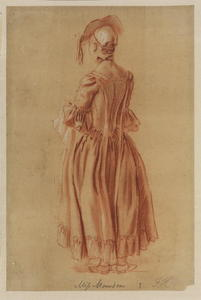 Paul Sandby - Miss Marsden - back view