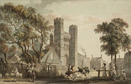 The Cemetery Gate of St Augustine`s Monastery Canterbury by Paul Sandby (1725-1809, United Kingdom) | Museum Art Reproductions | ArtsDot.com
