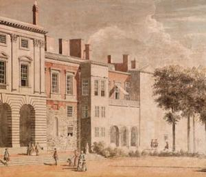 Paul Sandby - The garden front of Old Somers..