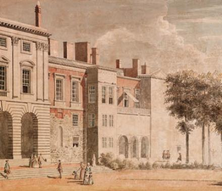 The garden front of Old Somerset House, London by Paul Sandby (1798-1863, United Kingdom)