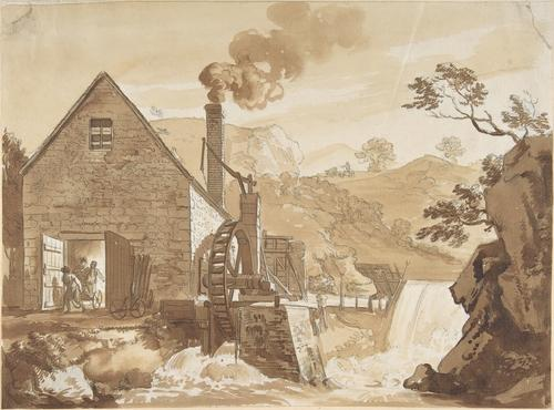 The Iron Forge between Dolgelli and Barmouth 1 by Paul Sandby (1798-1863, United Kingdom)