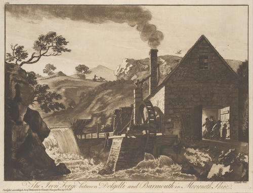 The Iron Forge between Dolgelli and Barmouth by Paul Sandby (1725-1809, United Kingdom) | Art Reproduction | ArtsDot.com