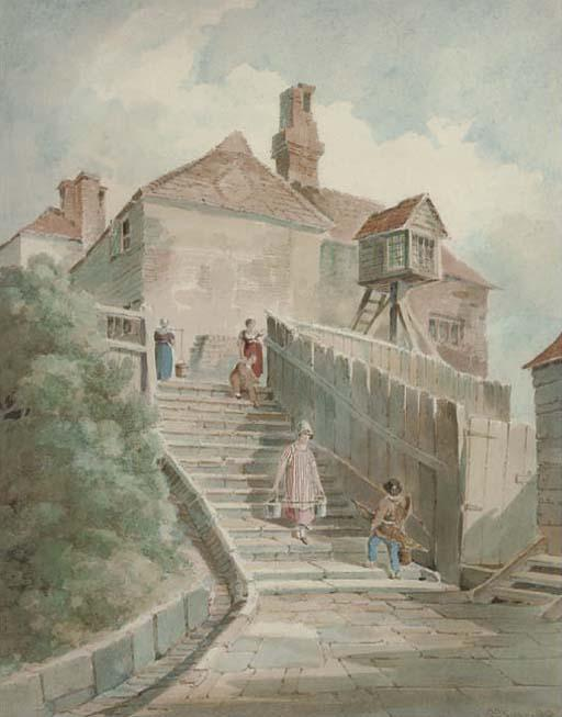 The Light Steps, Hastings by Paul Sandby (1798-1863, United Kingdom)