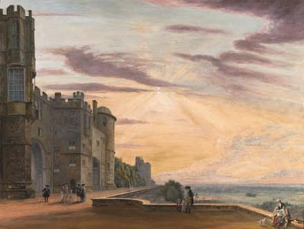The North Terrace of Windsor Castle looking west by Paul Sandby (1798-1863, United Kingdom)