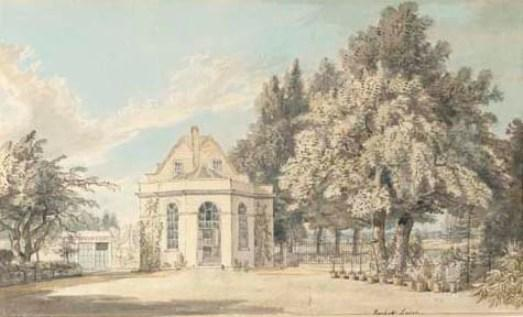 View of Rackett Lodge, Wandsworth, London by Paul Sandby (1798-1863, United Kingdom)