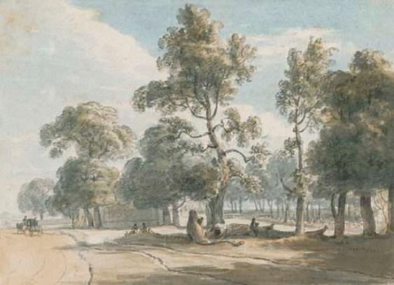 View of the Powder Magazine in Hyde Park by Paul Sandby (1798-1863, United Kingdom)