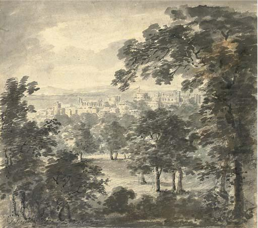 Windsor Castle from the Great Park by Paul Sandby (1798-1863, United Kingdom)