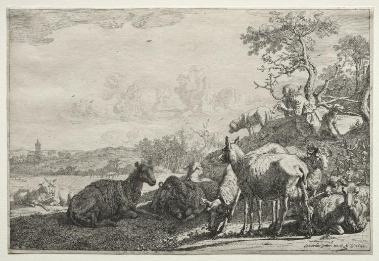 The Shepherd by Paulus Potter (1625-1654, Netherlands)