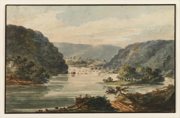 A View of the Potomac at Harpers Ferry by Pavel Petrovich Svinin (1787-1839, Russia) | ArtsDot.com