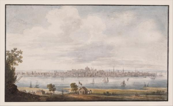 Albany, New York by Pavel Petrovich Svinin (1787-1839, Russia) | Museum Quality Reproductions | ArtsDot.com