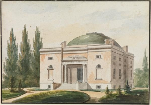 The Pennsylvania Academy of the Fine Arts, Philadelphia by Pavel Petrovich Svinin (1787-1839, Russia)