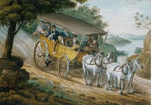 Pavel Petrovich Svinin - Travel by Stagecoach Near..