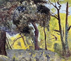 Pierre Bonnard - In the Woods (study)