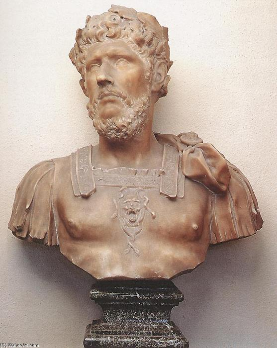 Bust of Marcus Aurelius, Marble by Pierre Puget (1620-1694, France)