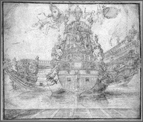 Design for the decoration of a Warship by Pierre Puget (1620-1694, France)