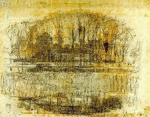 Piet Mondrian - Farm with trees and water